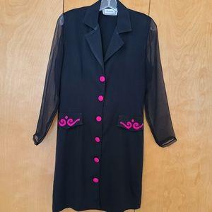 Retro/vintage 1980's Edition dress black pink